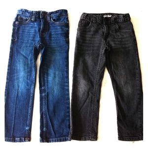Lot of 2 Cat & Jack 4T Boys Blue and Black Jeans